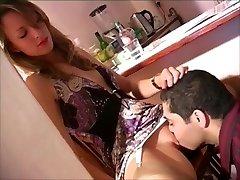 Servicing her