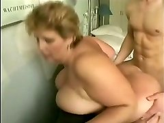 grannie with big tits fucks young guy