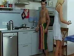 Blonde Milf Gets Banged in the Kitchen