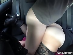 Slutwife pummeled by strangers in her car