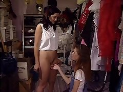 Sweet young brunette fucked by woman
