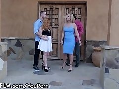 Two Swinger Couples DP Fuck in the Driveway