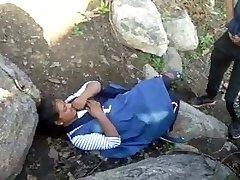 Caught Village Paki Couples Outdoor Plumbing