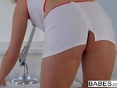 Elegant Anal -  Naughty nurse Nikky Dream takes it in her arse