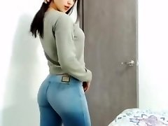 school girl in tight jeans without pocket