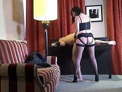 Svelte French nympho Mya Lorenn rails her submissive dude's spear