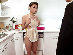 Nymph Housewife Begs For Cum In The Kitchen