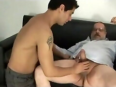 Daddy bear fuck younger man