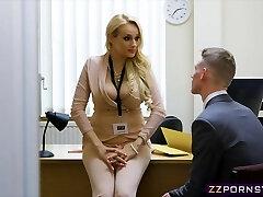 Fantastic busty teacher fucked hard in her office