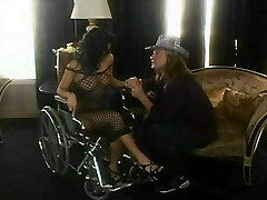 Sativa Rose's box munched in a wheelchair then cocked on the living bedroom floor