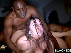 BLACKEDRAW Two Party Girls Cheat With BBCs After The Bar
