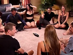 Open minded couples switch their womens in a bang-out sex
