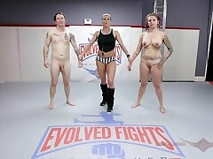 'Tori Avano nude grappling fight and face fuck at Evolved Struggles'