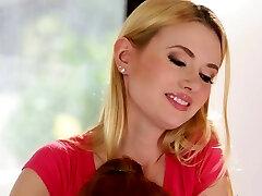 Red-haired MILF queening teen masseuse