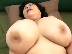 Japanese Mature with good-sized tits