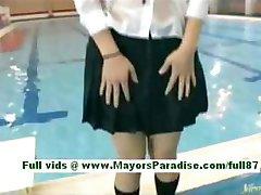 Rio shinano young asian slut in the pool swimming