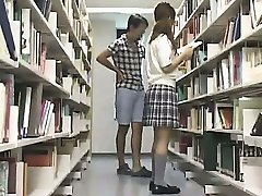 Young Teen used in the school library