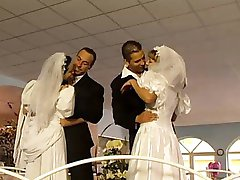 Two brides fucked after wedding