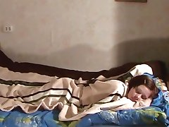 His Sleeping Ex Girlfriend Gets Banged And Cummed On Tits