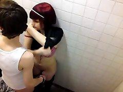 voyeur catches emo teens fooling around in pub bathroom