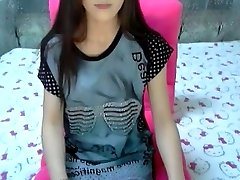 Crazy amateur movie with skinny, small milk cans, college, strip, solo, webcam scenes
