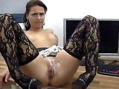 sexy fata face anal și femei acoperite în spermă !