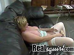 Mature bitch masturbating and squirting