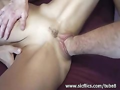 Insatiable gang bang fist fucked amateur milf
