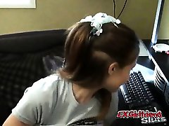 Ponytailed young exgirlfriend slut Kitty showing her tight body