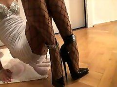 7.5 Дюймов Высокие Каблуки - Netzstrumpfhose - Minikleid 2