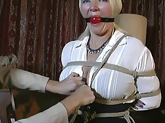 Her first time in bondage!