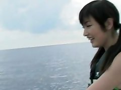 Yoko Kumada busty gal loves water sports
