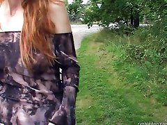 Veronica - Redhead Teen fucked for the Money