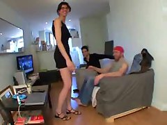 Gangbang for Petra, husband watching