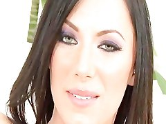 Hot brunette in boots takes a BBC