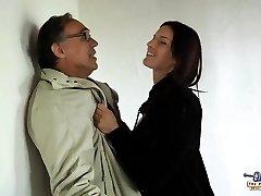Young tall schoolgirl fucks old fellow for money discount