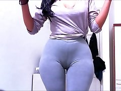 Cameltoe紧身裤灰Claudiahotpants