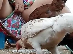 Must witness desi bhabi feeding hen