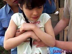 Elastyczny na twarzy azjatyckie nastolatki mmf, trójciągowy
