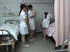 Japanese nurse gets naughty with a horny part6