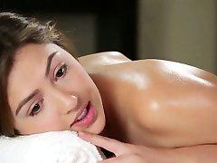 Hot lesbiche babe massaggio