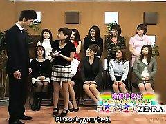 Subtitled CFNM Japan Milf TV penis pump demonstration