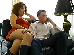 Young French Couple First Time On Camera