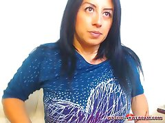 Hot Latin milf hot creampie on webcam