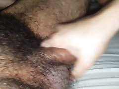 CFNM hairy handjob blowjob with cum swallowing