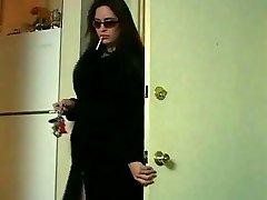 Cougar Miss Taylor smoking & petting