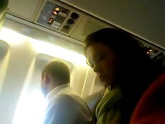 DickFlash - Airplane - Sexy Woman Hot Look