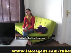 FakeAgent Young moist pussy gets owned Creampie