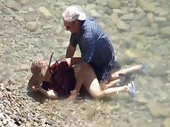 Stariji Parovi Na Plaži Seks Skrivena Kamera