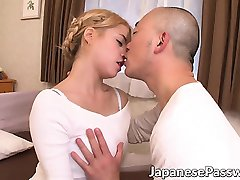 Blonde Asian teacher Stacey rides her horny mature student